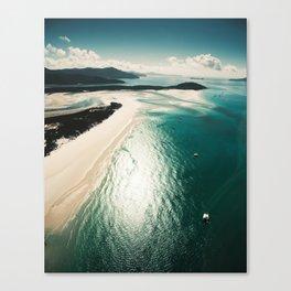 whitsunday island aerial Canvas Print