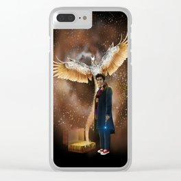 10th Doctor who with fantastic beast Clear iPhone Case