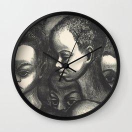 African American Art Wall Clock