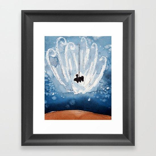The Landing of Curiosity Framed Art Print
