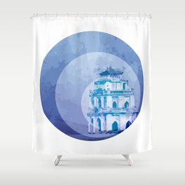Vietnam Hoan Kiem Lake Hanoi Capital Shower Curtain