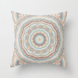 Sand Mandala Throw Pillow