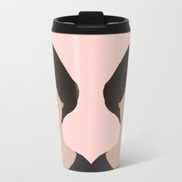 claire - portrait in pink Travel Mug