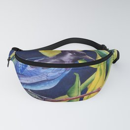 Stellar Jay and Skunk Cabbage Fanny Pack