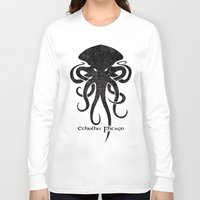 cthulhu Long Sleeve T-shirts featuring Cthulhu by Hans Mills