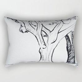Fountain Pen Trees Rectangular Pillow