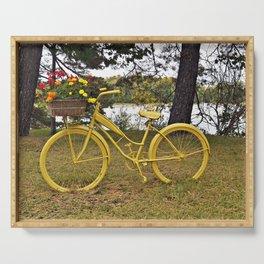 Yellow Bikes Serving Tray