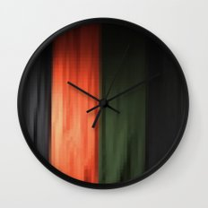 Janese kabuki drop curtain ~doncho~ Wall Clock