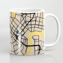 New Orleans Yellow City Map Coffee Mug
