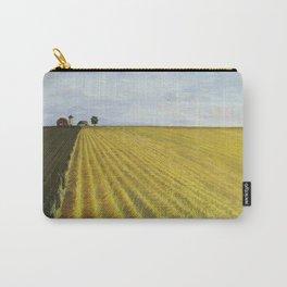 Alone, Farm, Acrylic on Canvas Carry-All Pouch