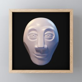 Alien-human hybrid head Framed Mini Art Print