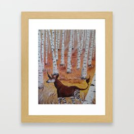 Okapicorn Forest Framed Art Print