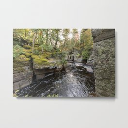 Sturgeon River Canyon in Michigan's Upper Peninsula Metal Print