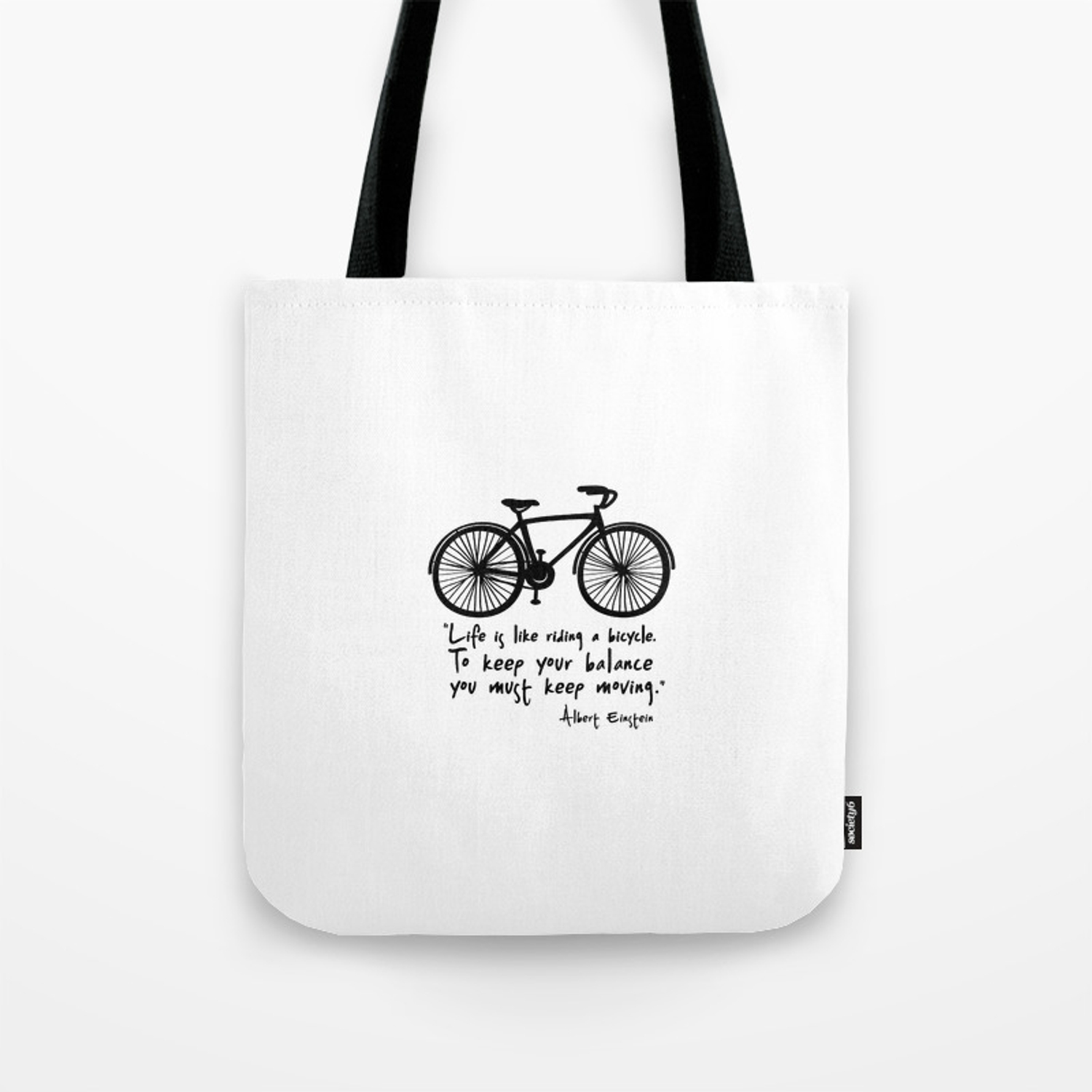 ECO FRIENDLY Life Is Like Riding A Bicycle,Tote Bag Canvas Tote Bag Cute Tote Bag Tote Bag Grocery Bag