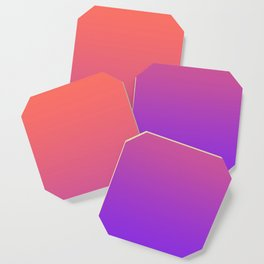 Gradient Ombre Living Coral Proton Purple Pattern Orange Peach Neon Ultra Violet Soft Trendy Texture Coaster