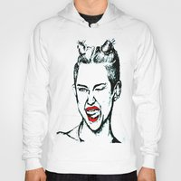 miley cyrus Hoodies featuring Miley Cyrus  by Clairenisbet