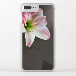 March Amaryllis Clear iPhone Case