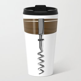 Corkscrew With Wooden Handle Travel Mug