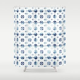Azulejo I - Portuguese hand painted tiles Shower Curtain