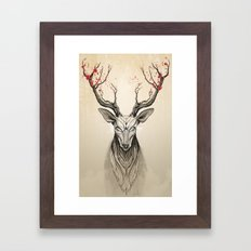 Deer tree Framed Art Print