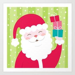 Cheerful Santa Art Print
