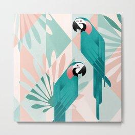 Couple of Macaw Metal Print