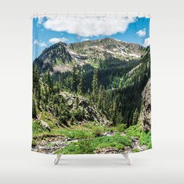 No Trails to the Top // Incredible Hiking Views Blissful Beauty Peaceful Landscape Photography Shower Curtain