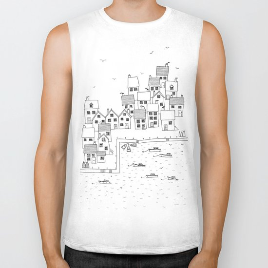 Harbour sketch Biker Tank