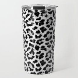 Leopard Print Black-and-White Travel Mug