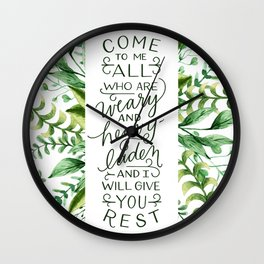 Come & Rest Wall Clock