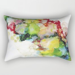 Abstract ink ethereal painting colorful watercolors Rectangular Pillow