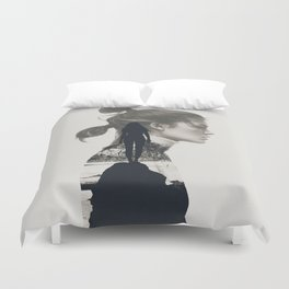 into the water i jump Duvet Cover
