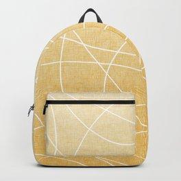 Scribble Linen - Sunflower Yellow Backpack