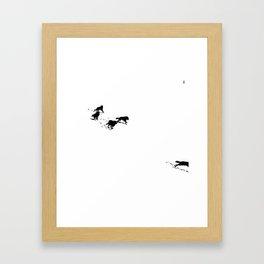 snowblinded // (wolf pack) Framed Art Print