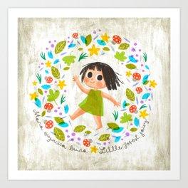 Little Forest Fairy Art Print