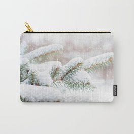 Winter Evergreen Carry-All Pouch