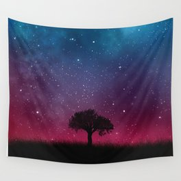 Tree Space Galaxy Cosmos Wall Tapestry