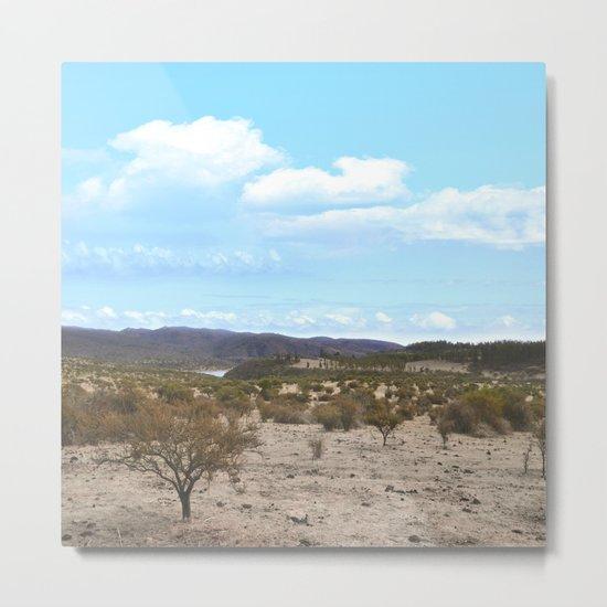 Landscape & Blue Sky Metal Print