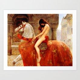 "John Collier ""Lady Godiva"" Art Print"