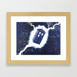 TARDIS Through the Rift Framed Art Print