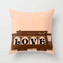 Boycott Throw Pillow
