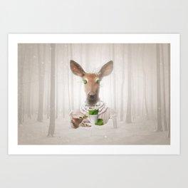 Would you like a cup of tea, my deer ?  Art Print
