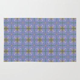 Floral tile surface Rug