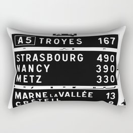 490 km to Strasbourg - The Polaroid Project Rectangular Pillow