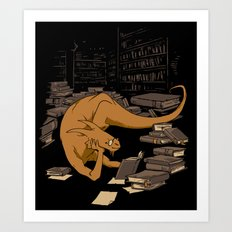 The Book Wyrm Art Print