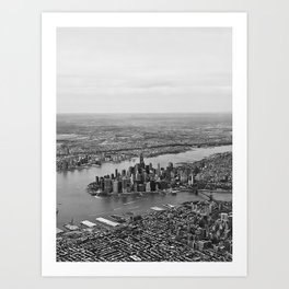 NYC Bird's eye Art Print
