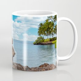 Stacked Rocks with ocean background  Coffee Mug