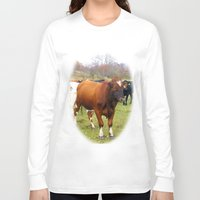 cows Long Sleeve T-shirts featuring Cows by AstridJN