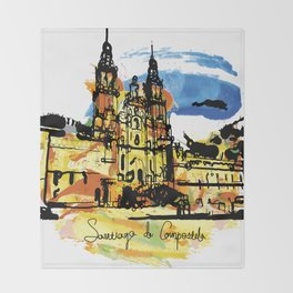 santiago  camino Throw Blanket