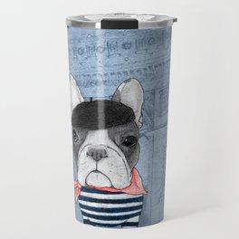 French Bulldog. (panoramic view version) Travel Mug